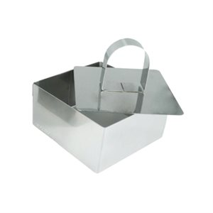 Square Mousse Molds  3 1 / 8 Inches Wide