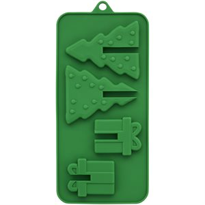 3D Present Tree Candy Mold