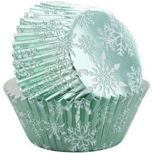 Foil Snowflake Baking Cups 24ct