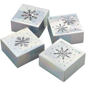 Iridescent Snowflake Box 4ct