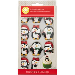 Christmas Penguins Royal Icing Decorations