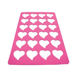 Heart Shape Chablon Tuile Stencil