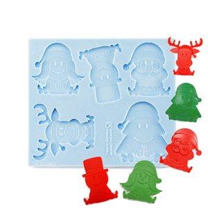 Christmas Santa, Reindeer, Snowman Silicone Mold