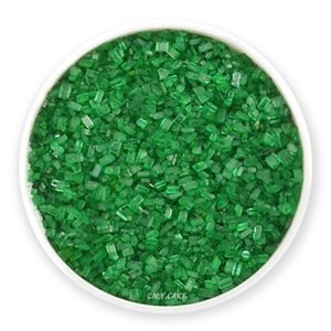 Green Natural Coarse Sugar Crystals