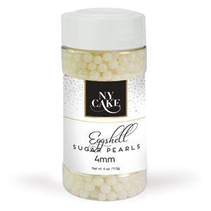 Eggshell Sugar Pearls 4 mm