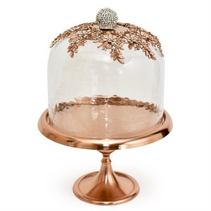 NY Cake Rose Gold Royal Dome Stand 12""