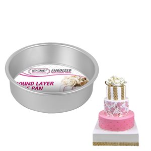 Round Cake Pan 6 by 2 Inch Deep