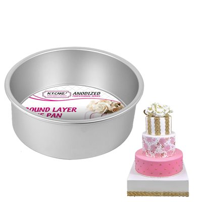 Round Cake Pan 8 by 3 Inch Deep