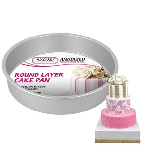 Round Cake Pan 9 by 2 Inch Deep