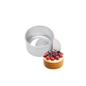 Removable Bottom Round Cake Pan 3 by 3 Inch Deep