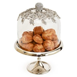 NY Cake Silver Royal Dome Stand 12""