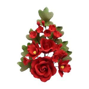 Red Rose Spray Sugar Flowers