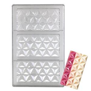 Pyramidal Geometry Polycarbonate Chocolate Mold