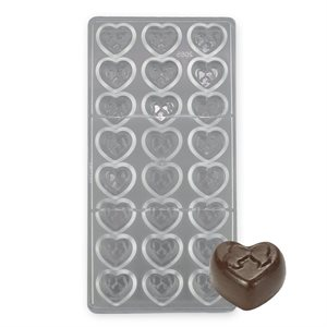Heart Bride & Groom Polycarbonate Chocolate Mold