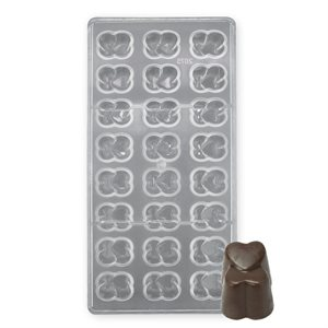 Double Heart Polycarbonate Chocolate Mold