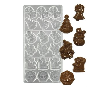 Christmas Assortment 1 Polycarbonate Chocolate Mold