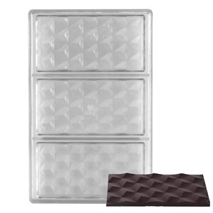 Cubic Geometry Polycarbonate Chocolate Mold