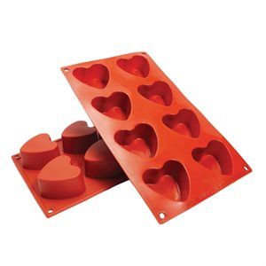 Heart Silicone Baking Mold 3 Ounce