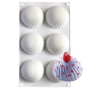 Swirl Hemisphere Silicone Baking & Freezing Mold 3.7 oz.