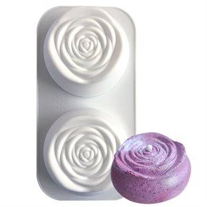 Rose Silicone Baking & Freezing Mold 2 Cavity