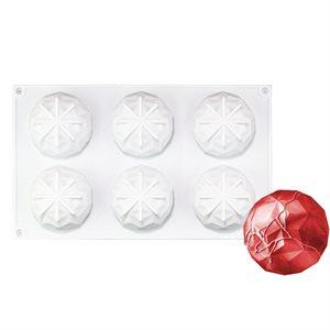 Gem Hemisphere Silicone Baking Mold 6 Cavity