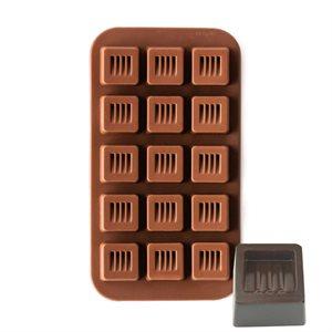 Striped Square Silicone Chocolate Mold
