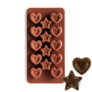 Stars and Hearts Silicone Chocolate Mold