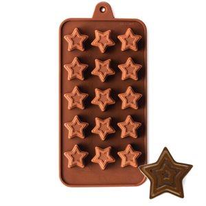 Jeweled Star Silicone Chocolate Mold