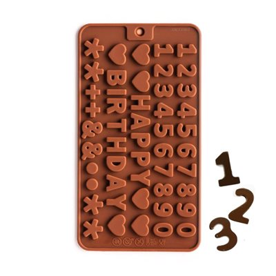 Mini Number Silicone Chocolate Mold