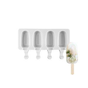 Silicone Mold for Ice Cream Pops,Premier Shape-4 Cavity( Mini Size)