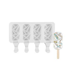 "Mini Size Silicone Mold for Cakesicles, ""Gem"" Shape-4 Cavity"
