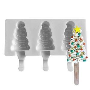 Silicone Mold for Ice Cream Pops,Triangular Shape-3Cavity