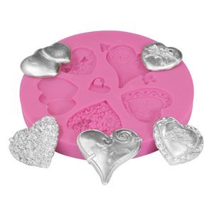 Hearts and More Silicone Fondant Mold