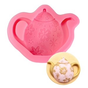 Floral Teapot Silicone Mold