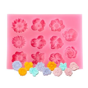 Finished Flowers Silicone Mold-11 Cavity