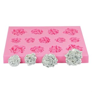 Assorted Roses Silicone Fondant Mold