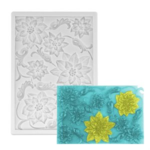 Large Poinsetta Bloom Cluster Silicone Mold