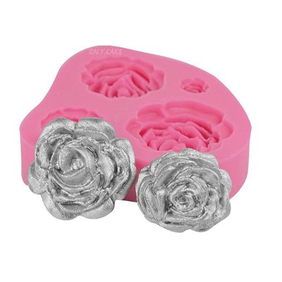 Blooming Roses Fondant Silicone Mold