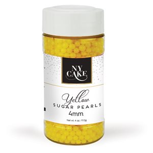 Yellow Sugar Pearls 4mm