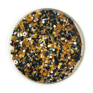 Black & Orange Ghost Glittery Sugar 3 Ounces