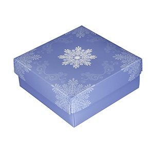 Snowflake Chocolate Box 8 Ounce-Pack of 5