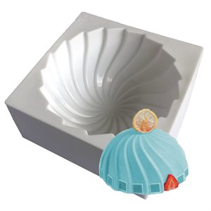 Swirl Hemisphere Silicone Baking & Freezing Mold