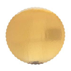 "10"" Scalloped Gold Cake Circle"