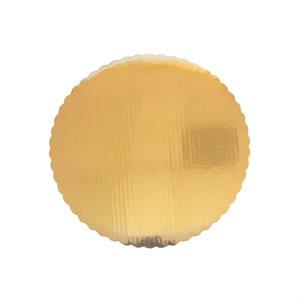 "5"" Scalloped Gold Cake Circle"