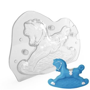 3D Rocking Horse Polycarbonate Chocolate Mold