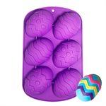 Silicone Baking Mold-Fancy Egg Shape 6 Cavity