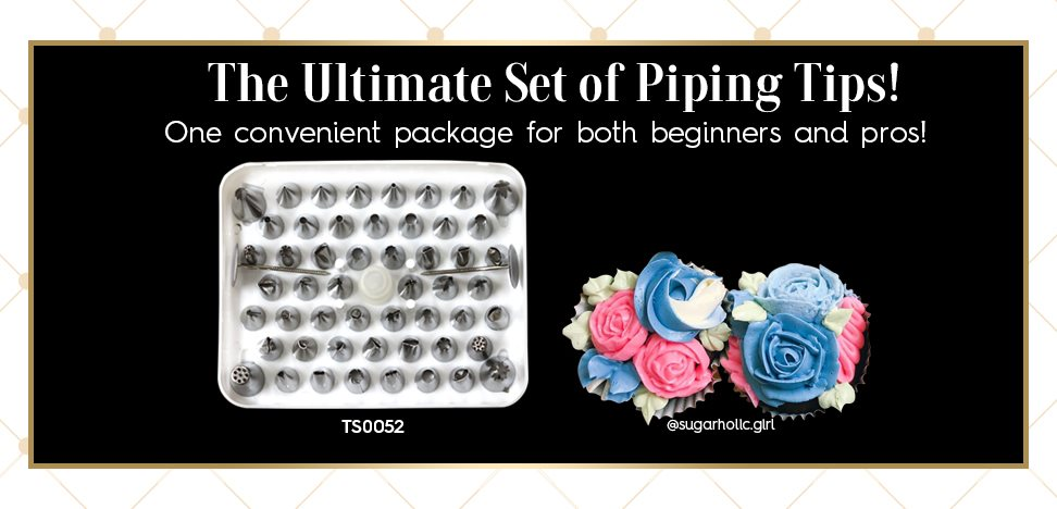 52 Piece Decorating Piping Tip Cake Decorating Set