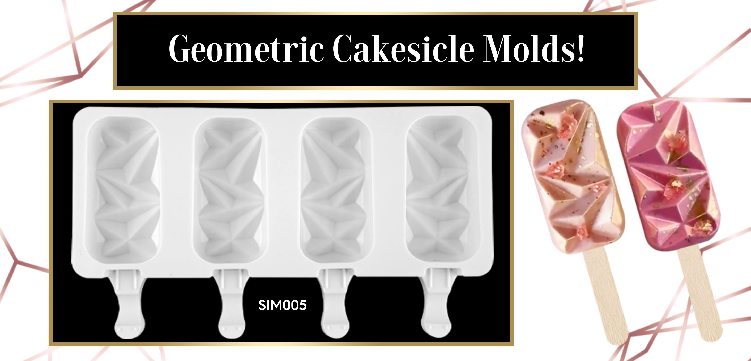 Gem Geometric Cakesicle Silicone Mold