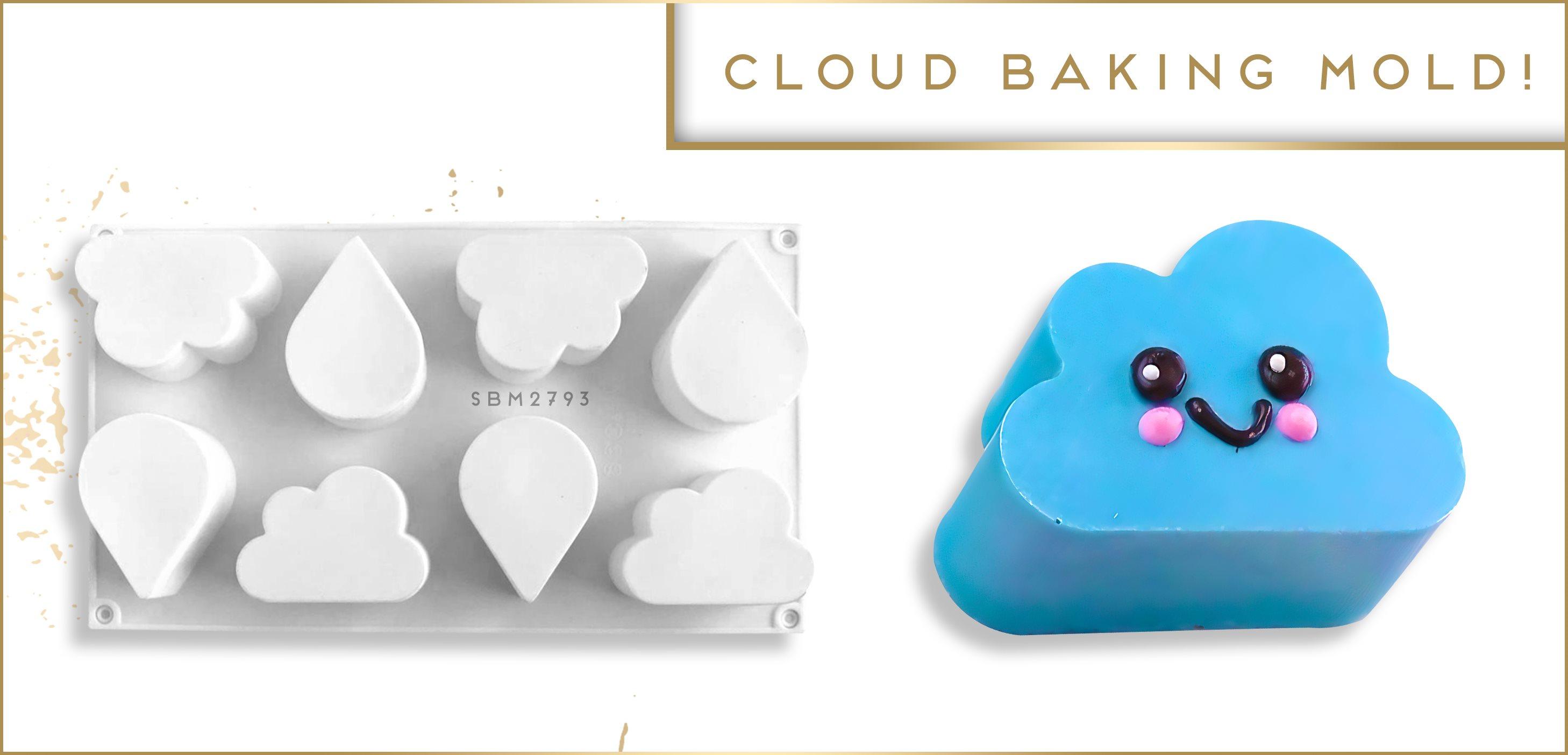 Rain Cloud Water Drop Silicone Baking Mold