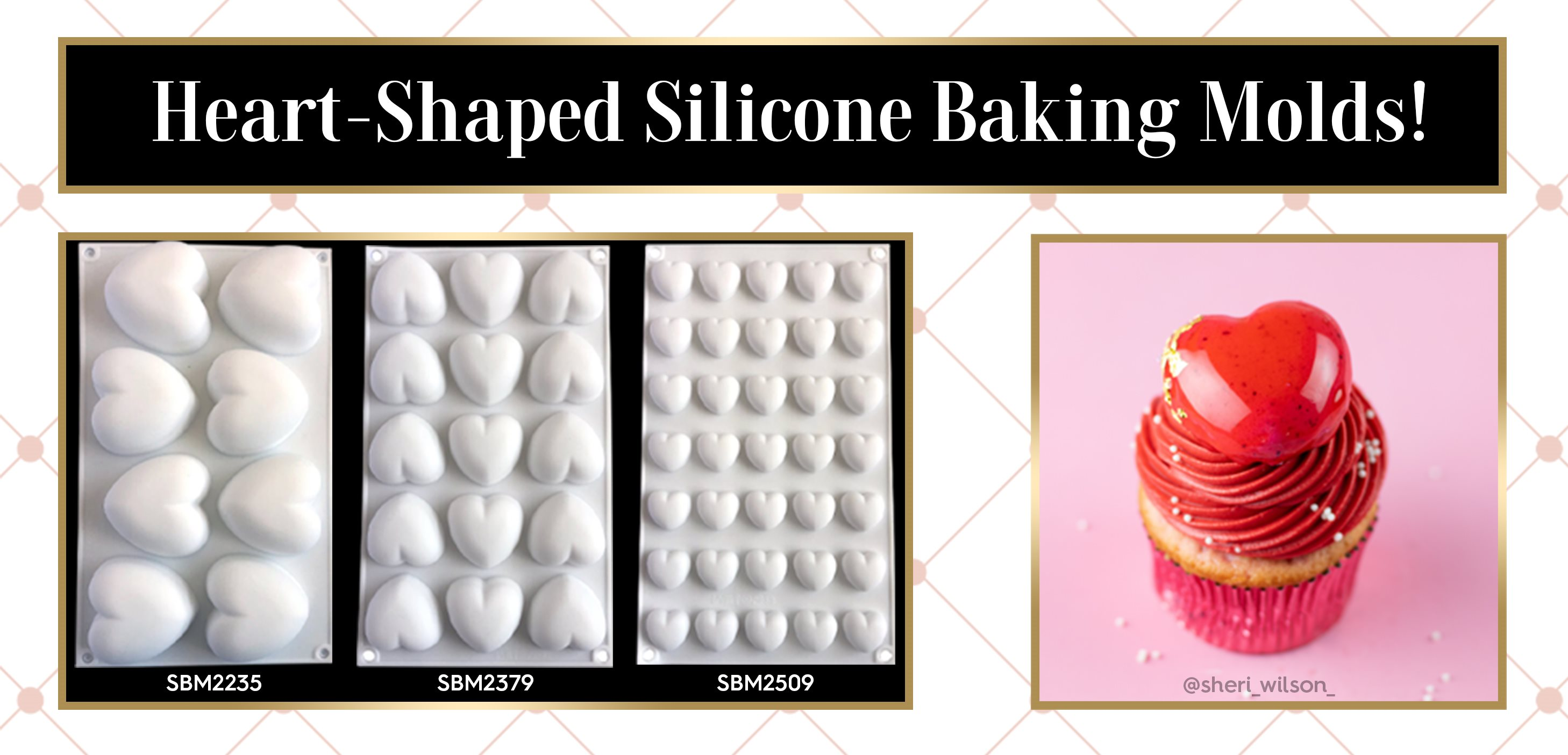 Valentine Heart Shape Silicone Baking Mold